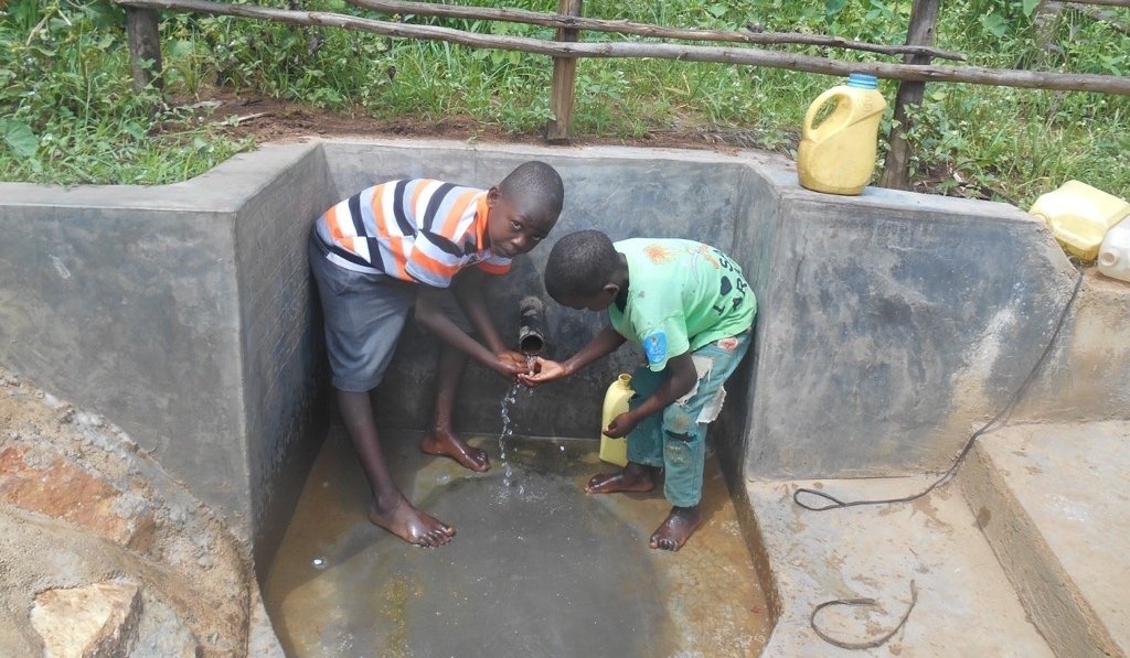 Andrea Mutende Spring Protection Project