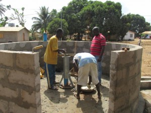 The Water Project : 14-sierraleone5080-well-pad-construction