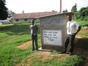 The Water Project : 15-kenya4610-finished-latrines