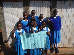 The Water Project : 16-kenya4605-finished-latrines