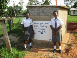 The Water Project : 16-kenya4610-finished-latrines