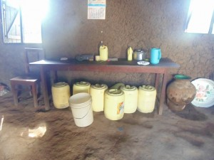 The Water Project : 3-kenya4617-water-containers-in-kitchen