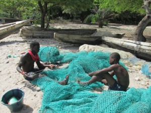 The Water Project : 9-sierraleone5082-patching-nets