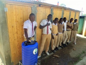 The Water Project : 19-kenya4615-finished-latrines