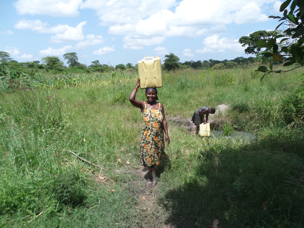 The Water Project : 1-uganda6068-fetching-water