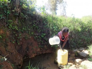 The Water Project : 3-kenya4588-fetching-water