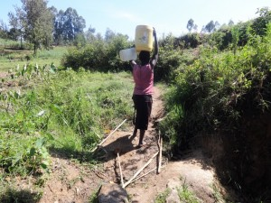 The Water Project : 4-kenya4588-fetching-water