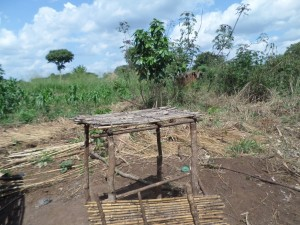 The Water Project : 9-uganda6066-dish-rack-in-construction
