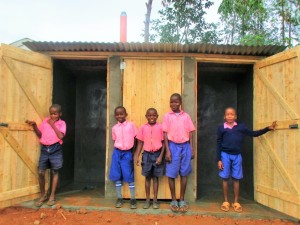 The Water Project : 19-kenya4623-finished-latrines