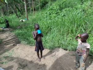 The Water Project : 4-uganda6071-child-drinking-swamp-water