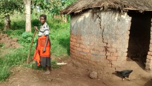 The Water Project : 5-uganda6066-well-caretakers-home