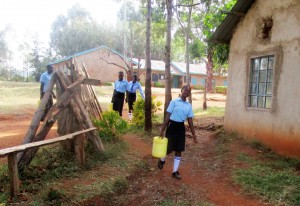 The Water Project : 1-kenya4643-fetching-water-before-classes