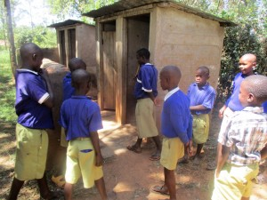 The Water Project : 11-kenya4642-boys-waiting-for-latrines