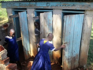 The Water Project : 12-kenya4642-girls-latrines