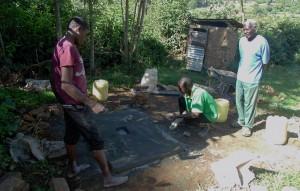 The Water Project : 14-kenya4589-sanitation-platform-construction