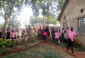 The Water Project : 14-kenya4643-primary-students-pass-through