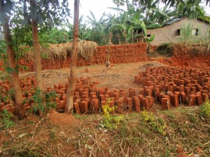 The Water Project : 21-kenya4643-local-brickmaking