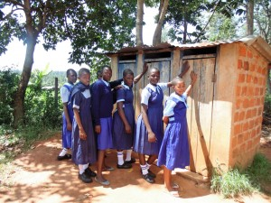 The Water Project : 22-kenya4636-girls-latrines