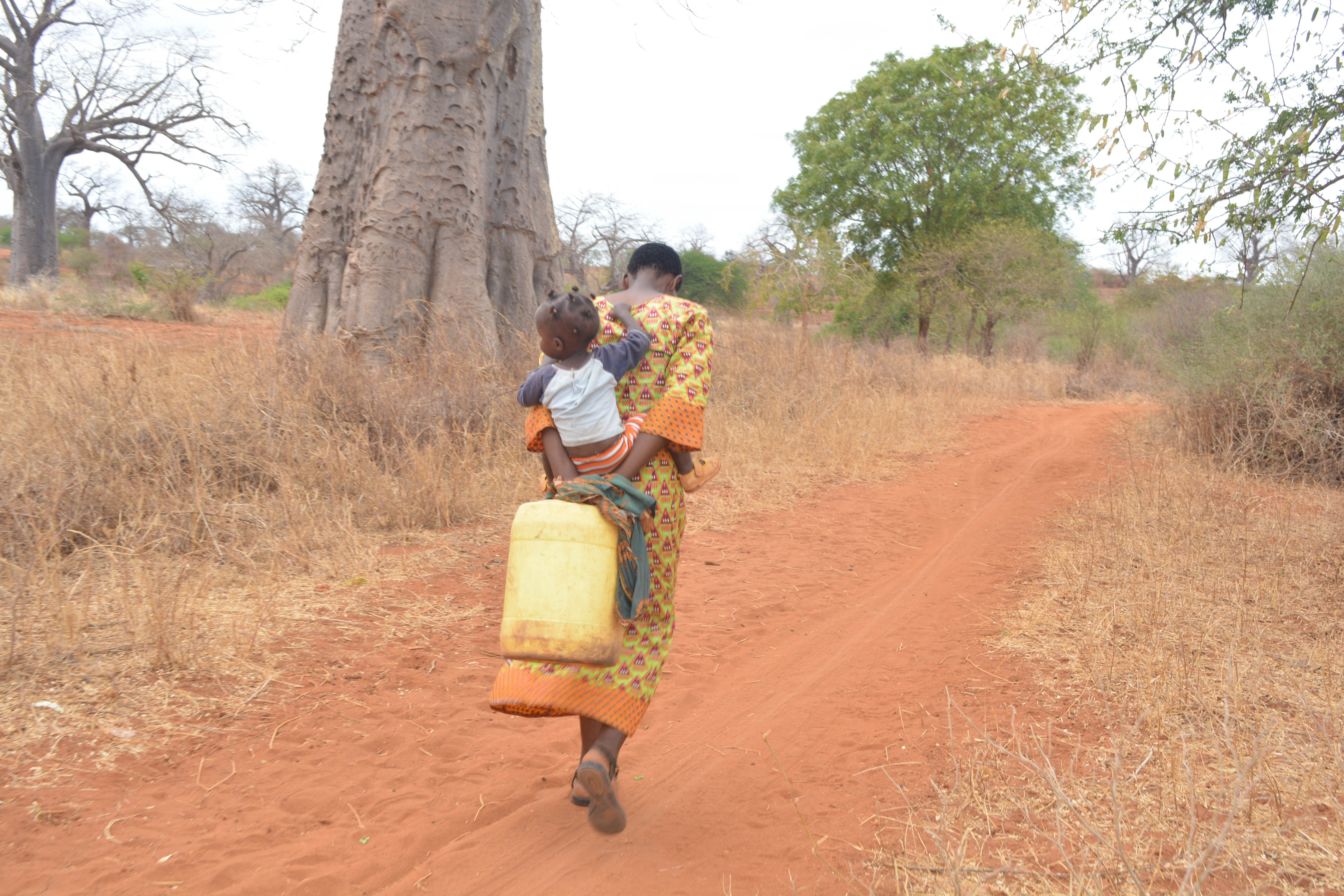 The Water Project : 23-kenya4499-fetching-water