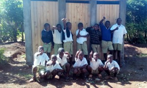 The Water Project : 27-kenya4626-finished-latrines
