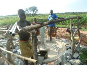 The Water Project : 6-uganda6073-building-fence