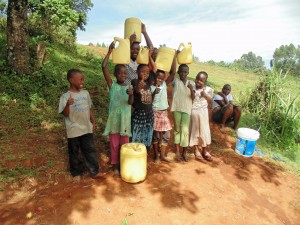 The Water Project : 9-kenya4636-community-children-at-spring