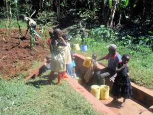 The Water Project : 9-kenya4642-community-members-fetch-water