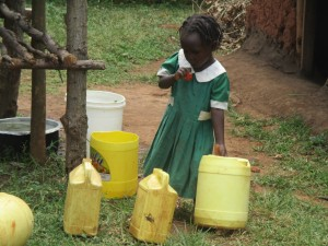 The Water Project : 10-kenya4632-students-with-jerrycans