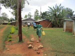 The Water Project : 11-kenya4632-bringing-water-to-school