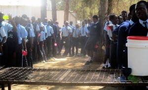 The Water Project : 12-kenya4639-students-lined-up-for-tea