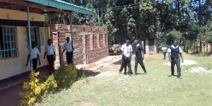The Water Project : 13-kenya4645-coming-from-the-two-latrines