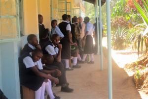 The Water Project : 14-kenya4639-form-one-students-registering