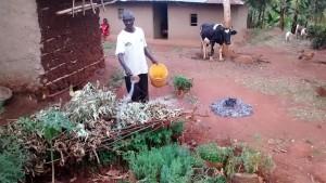 The Water Project : 15-kenya4703-zachariah-anavira-at-his-homestead