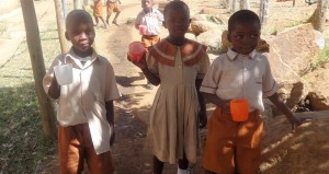 The Water Project : 17-kenya4646-students-with-water-cups