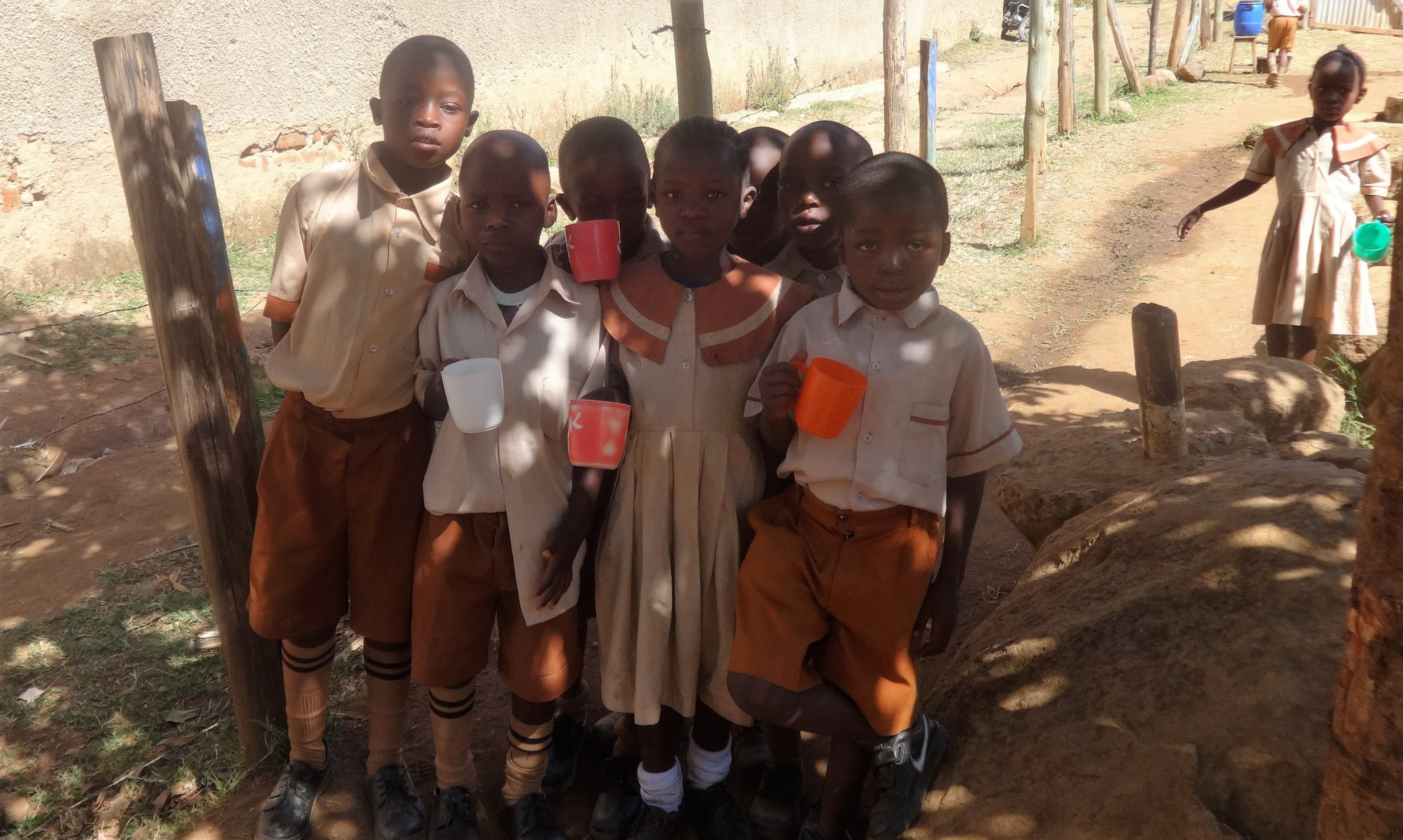 The Water Project : 18-kenya4646-students-with-water-cups