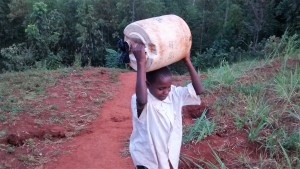 The Water Project : 2-kenya4703-carrying-water