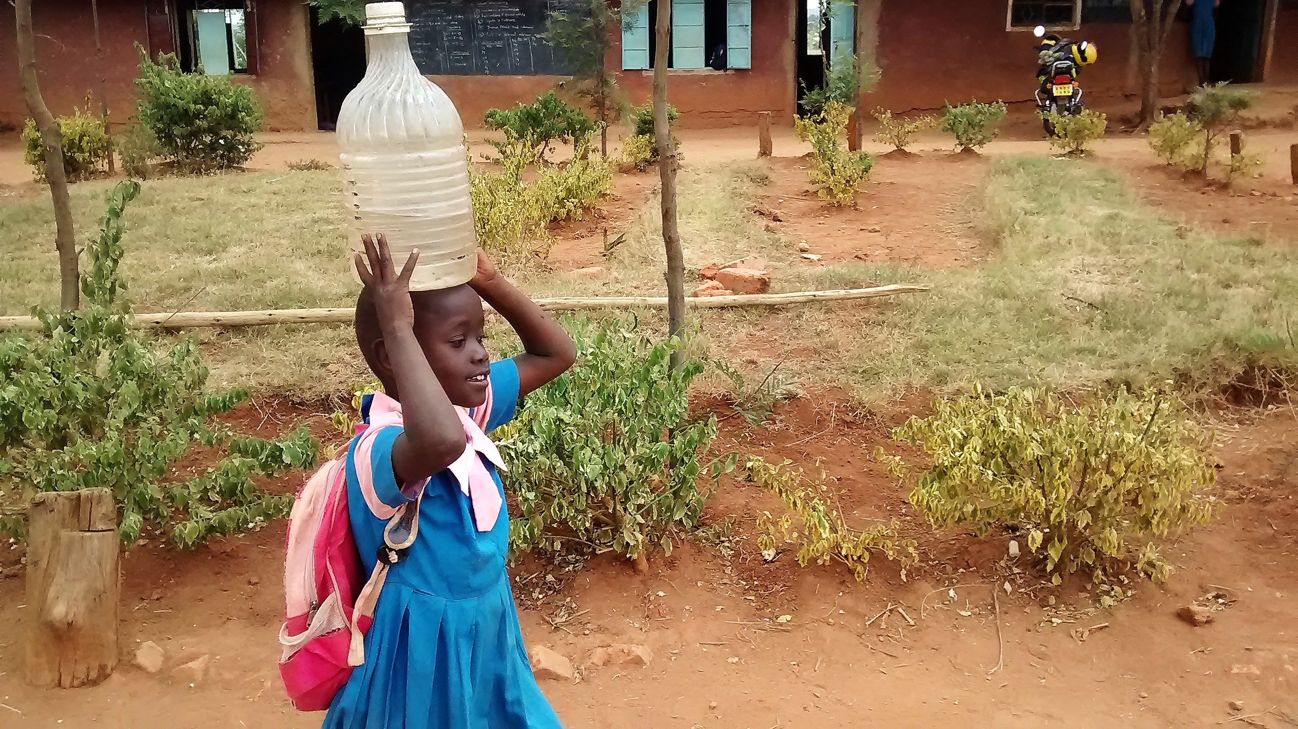 The Water Project : 3-kenya4648-carrying-water