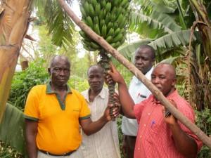 The Water Project : 5-kenya4632-headteacher-and-board-members-on-school-farm