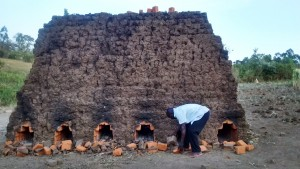 The Water Project : 6-kenya4697-baking-bricks