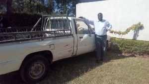 The Water Project : 7-kenya4645-principal-with-his-truck