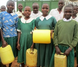 The Water Project : 8-kenya4632-students-with-jerrycans