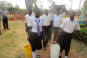 The Water Project : 8-kenya4645-fetching-water-from-the-primary-section