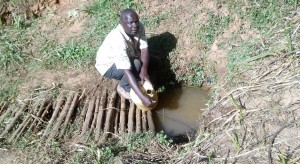 The Water Project : 1-kenya4704-fetching-water-2