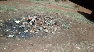 The Water Project : 12-kenya4649-school-trash-pit