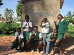 The Water Project : 18-kenya4632-finished-latrines