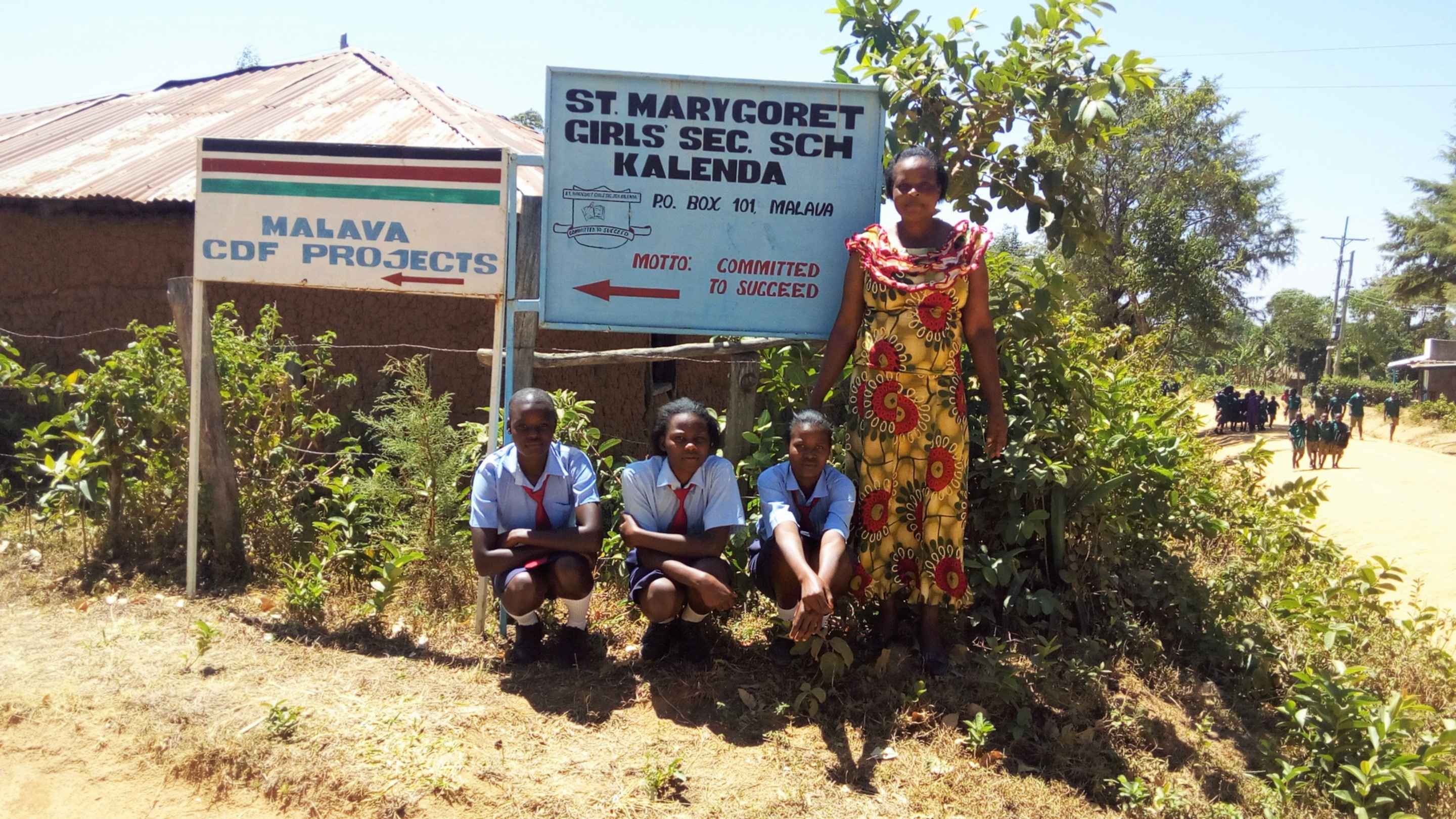 The Water Project : 2-kenya4647-headmaster-and-students