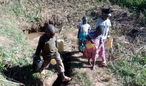 The Water Project : 2-kenya4704-fetching-water-2