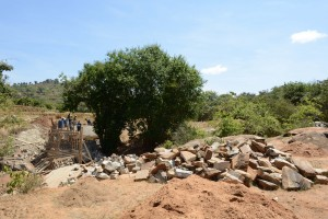 The Water Project : 20-kenya4756-sand-dam-construction