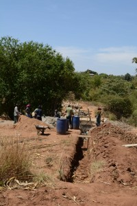 The Water Project : 27-kenya4756-sand-dam-construction
