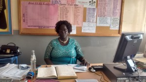 The Water Project : 3-kenya4650-school-principal-elizabeth-musambai